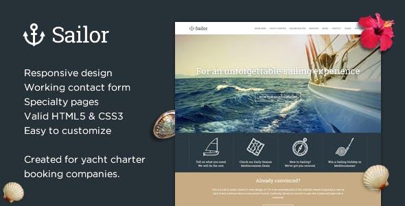 Sailor - Yacht Charter Booking HTML Template