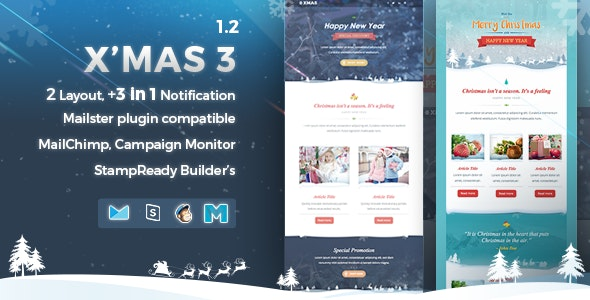 X'mas 3 | Responsive Email Template - Email Templates Marketing