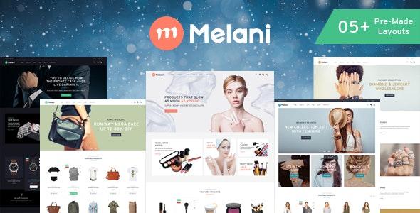 Melani - Fashion, Cosmetic, Jewelry, Watch Store HTML Template - Shopping Retail