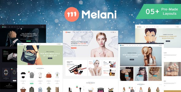 Melani - Fashion, Cosmetic, Jewelry, Watch Store HTML Template