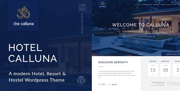 Calluna - Hotel WordPress Theme