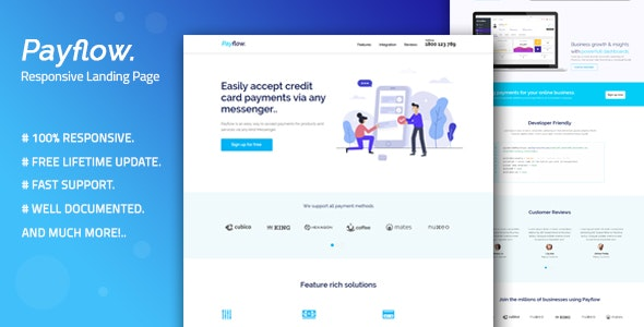 Payflow - Responsive Landing Page Template - Creative Landing Pages