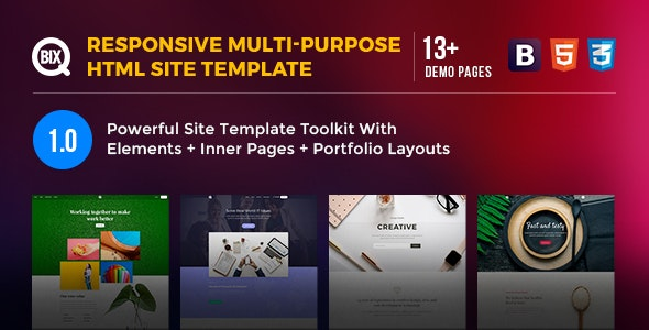 Qbix - Responsive Multi-Purpose HTML Site Template - Corporate Site Templates
