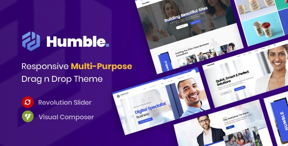 Humble. Responsive Multi-Purpose Drag n Drop Theme - Portfolio Creative