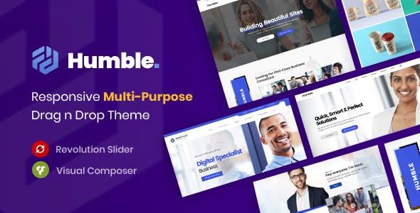 Humble. Responsive Multi-Purpose Drag n Drop Theme