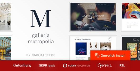 Galleria Metropolia -  Art Museum & Exhibition Gallery Theme - Portfolio Creative