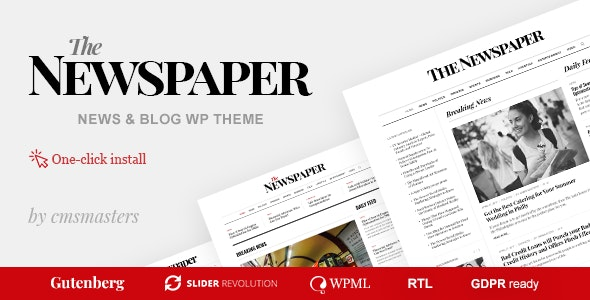 The Newspaper - Magazine Editorial WordPress Theme - News / Editorial Blog / Magazine