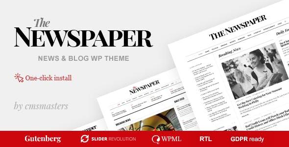 The Newspaper - Magazine Editorial WordPress Theme