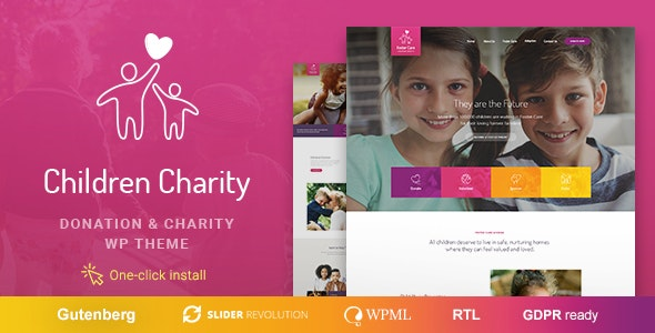 Children Charity - Nonprofit & NGO WordPress Theme - Charity Nonprofit