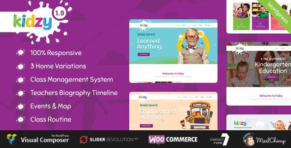 KIDZY - Responsive Kindergarten & Preschool WordPress Theme - Education WordPress