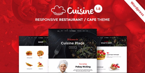 Cuisine - WordPress Theme for Restaurant, Cafe, Chef - Restaurants & Cafes Entertainment