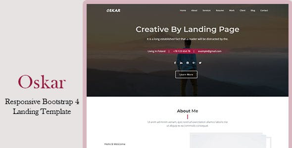 Oskar - Responsive Bootstrap 4 Landing Template