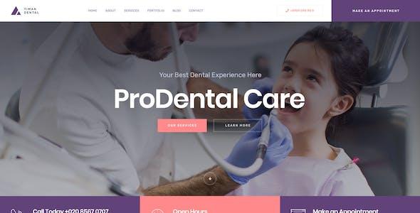 Timan - Dental & Clinic PSD Template