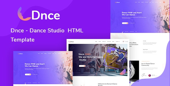 Dnce - Dance Studio Creative HTML Template - Music and Bands Entertainment
