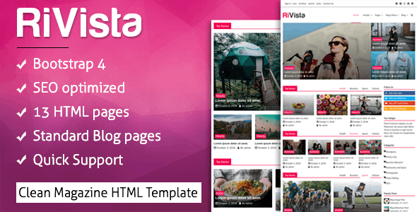 RiVista - Clean News & Magazine HTML Template - Fashion Retail