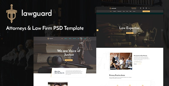 Lawguard - Lawyer and Law Firm PSD Template - Business Corporate