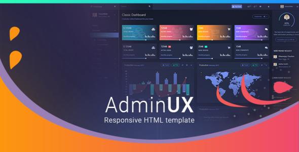 Admin UX | Bootstrap 4 Angular 4 Dashboard Responsive HTML template - Admin Templates Site Templates