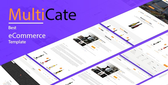 MultiCate Minimal Online Store Template - Business Corporate