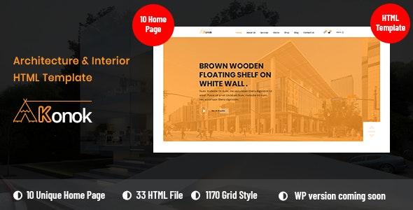 Konok - Architecture & Interior Bootstrap4 HTML Template - Business Corporate