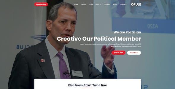 opule - Political PSD Template