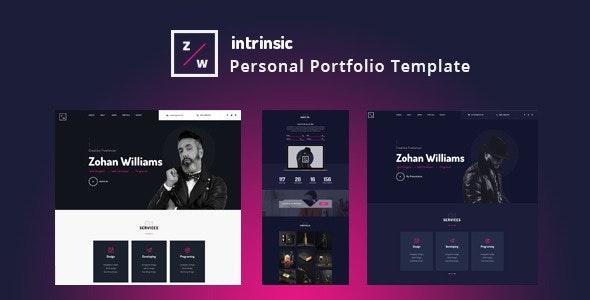 Intrinsic - Creative Personal Portfolio HTML5 Template - Creative Site Templates