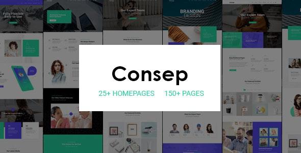 Consep - Responsive Multi-Purpose HTML5 Template - Corporate Site Templates