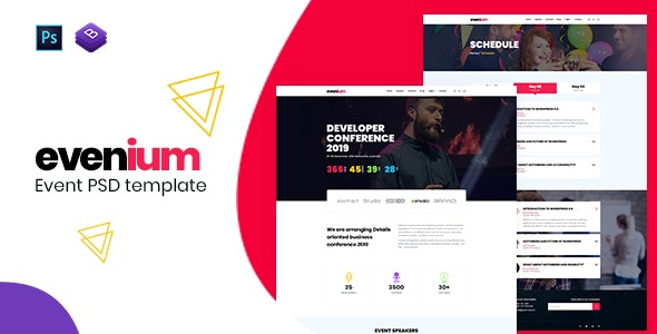 Evenium - Multipurpose Event and Conference PSD Template - Events Entertainment