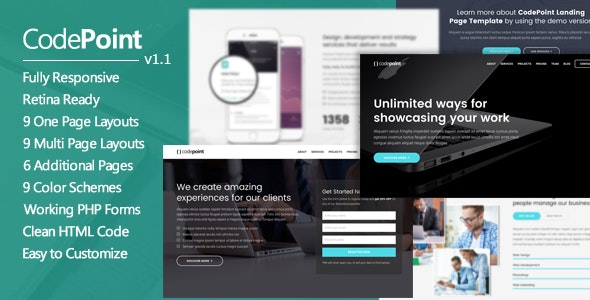 CodePoint - Multi-Purpose Landing Page WordPress Theme - Marketing Corporate
