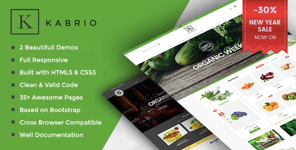 Kabrio - Organic & Restaurant Store HTML Template