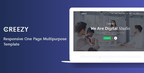 Creezy - Responsive One Page Multipurpose Template - Business Corporate