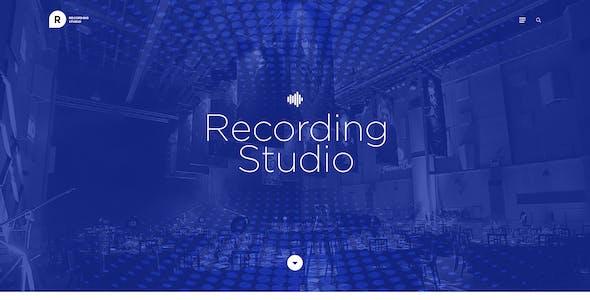 Recording Studio WordPress Theme - DJ / Producer / Music / Soundtrack / Artist / Entertainment