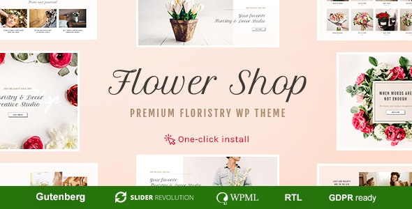 Flower Shop - Florist Boutique & Decoration Store WordPress Theme - WooCommerce eCommerce