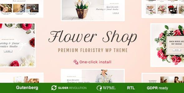 Flower Shop - Florist Boutique & Decoration Store WordPress Theme