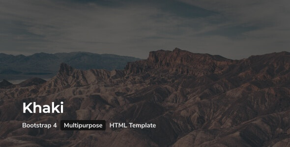 Khaki - Multipurpose HTML Template with Bootstrap 4 - Business Corporate