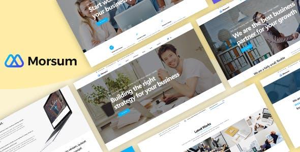 Morsum - Agency PSD Template