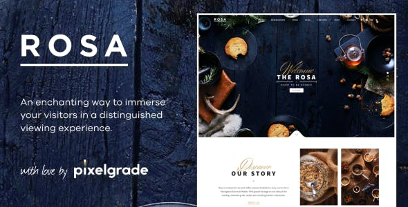 ROSA 1 - An Exquisite Restaurant WordPress Theme