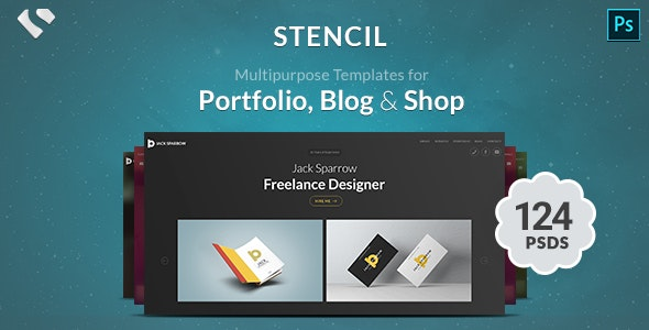 Stencil - Portfolio, Blogging & Shop - PSD Templates