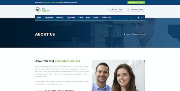 PcBuddy - Computer Repair PSD Template