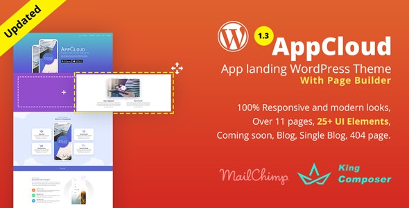 AppCloud   App Landing WordPress Theme - Technology WordPress