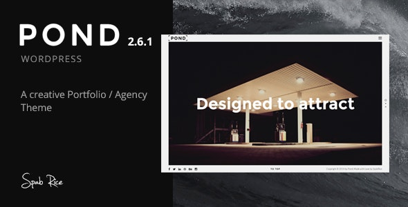 Pond - Creative Portfolio / Agency WordPress Theme - Portfolio Creative
