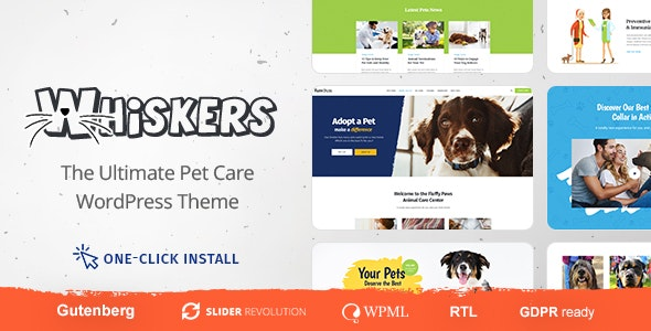 Whiskers - Pets Store | Vet Clinic | Animal Adoption - Charity Nonprofit