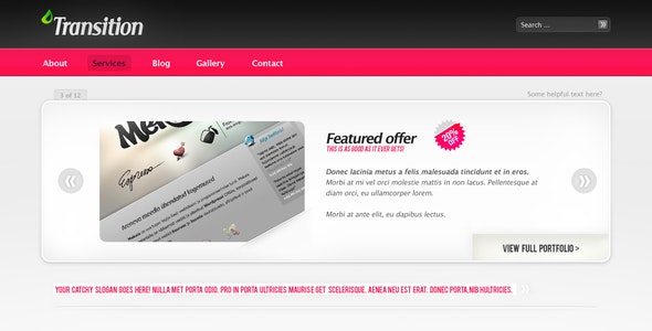 Transition portfolio/product gallery theme - Creative Photoshop