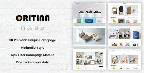 Oritina - Minimalist Responsive PrestaShop 1.7 Theme For Furniture, Decor, Interior - Shopping PrestaShop