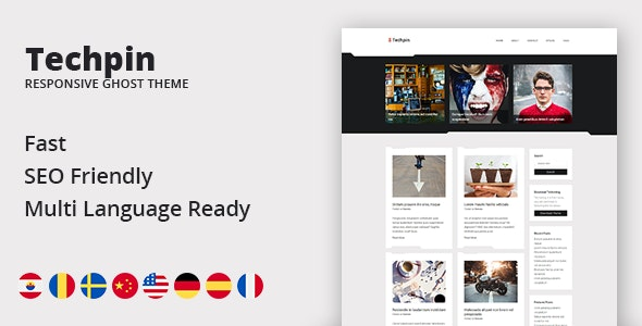 Techpin - Responsive Multipurpose Ghost Blog Theme - Ghost Themes Blogging