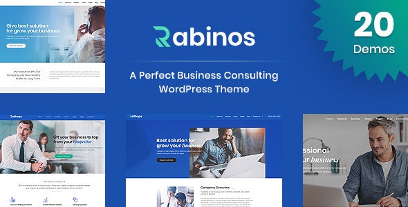 Rabinos - Business Consulting WordPress Theme - Business Corporate