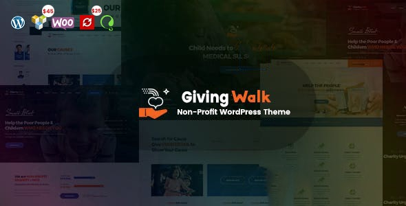 GivingWalk – Multipurpose Nonprofit WordPress Theme - Charity Nonprofit
