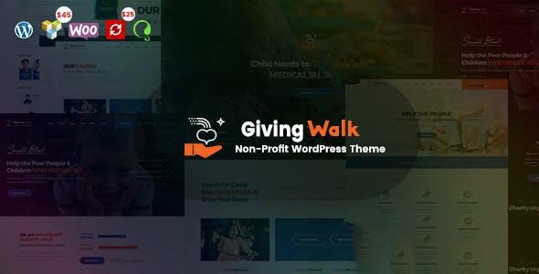 GivingWalk – Multipurpose Nonprofit WordPress Theme