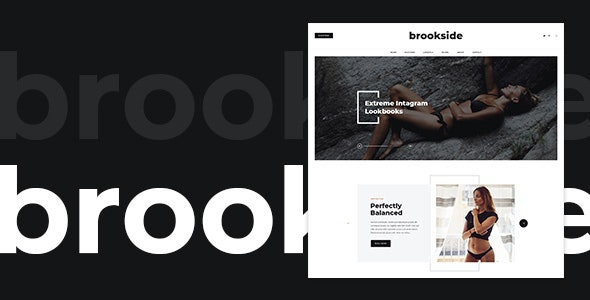 Brookside - Blog PSD Template - Personal Photoshop