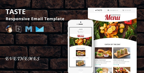 Taste - Restaurant Responsive Email Template - Newsletters Email Templates