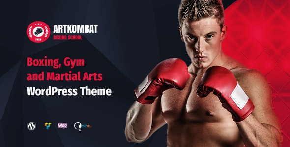 ArtKombat - Boxing School and Martial Arts WordPress Theme - Business Corporate
